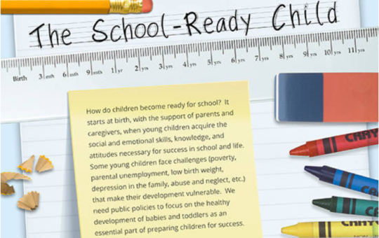 Learn how getting children ready for school begins at birth